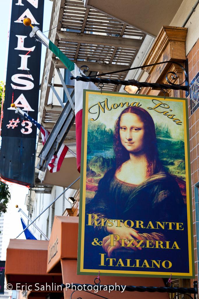 Mona Lisa Restaurant Signage