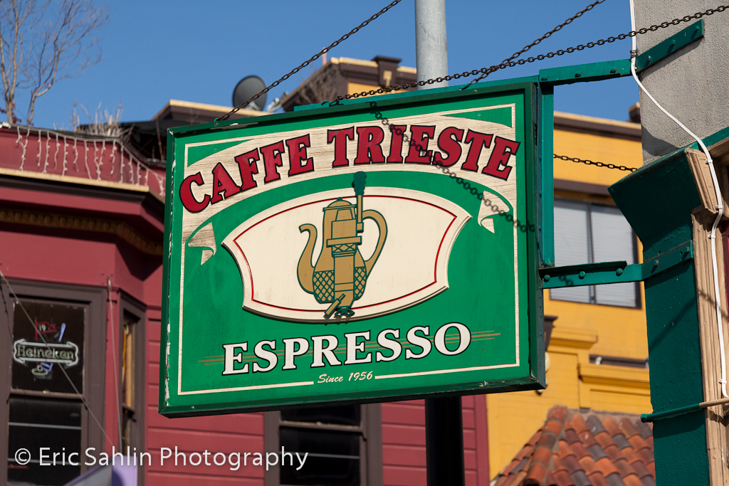 Cafe Trieste sign