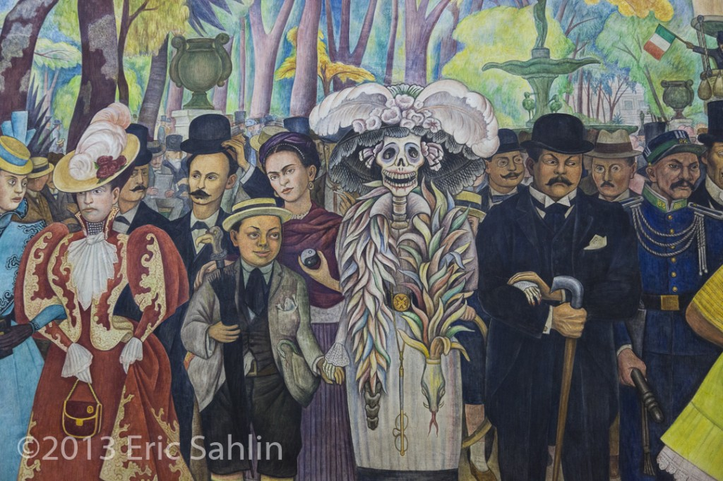 Detail of the Dream of a Sunday afternoon in the Alameda, Diego Rivera